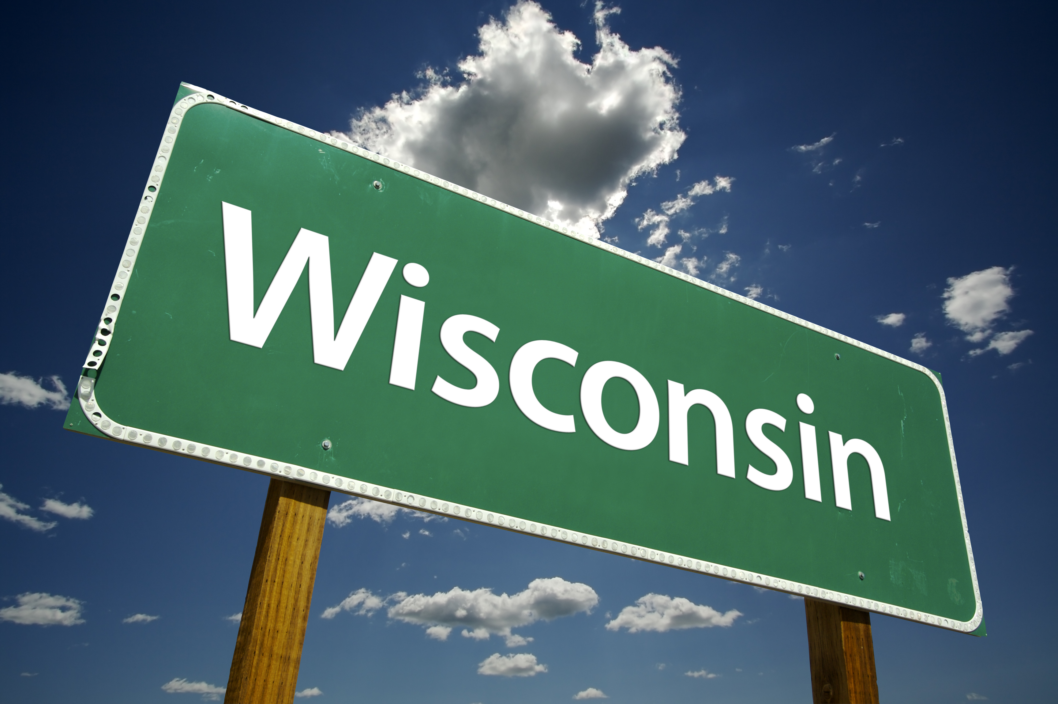 Road sign for Wisconsin | Hoof Zink, University Studies hoof rot on dairy cattle