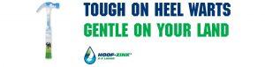 Hoof Zink hammer is tough on Heel Warts, Gentle on the land